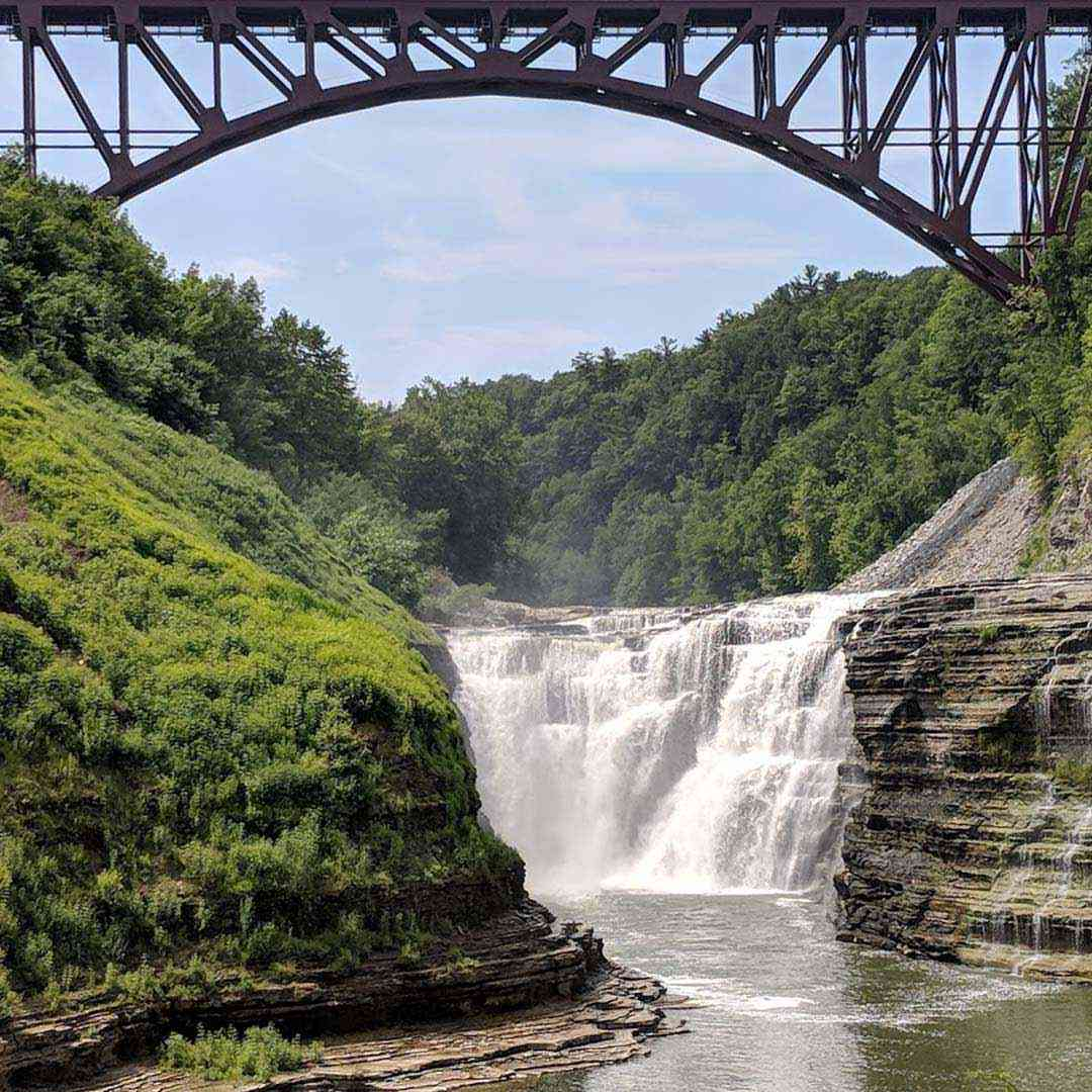 Letchworth State Park new train bridge