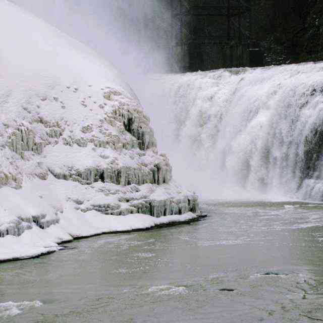 Letchworth State Park upper falls winter