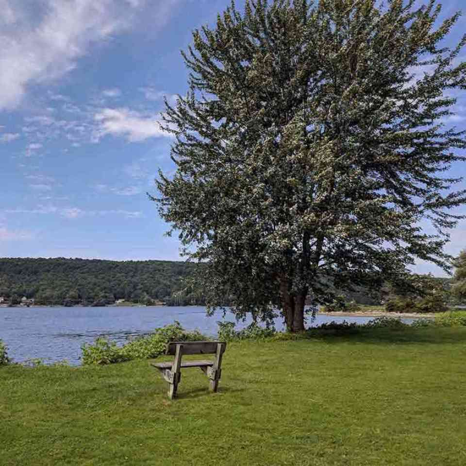Otisco Lake Park bench