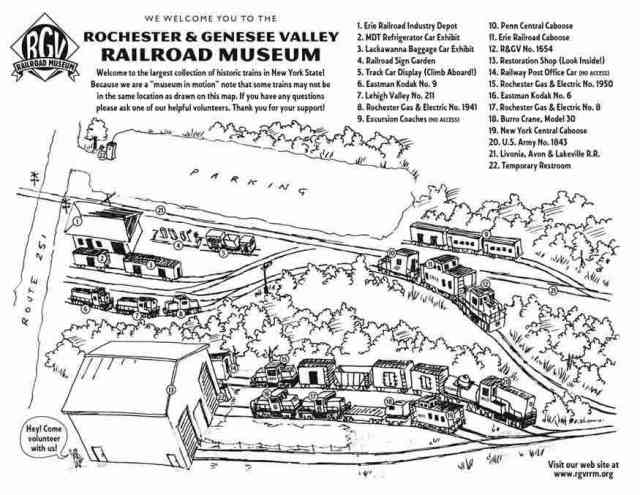 Rochester Genesee Valley Railroad Museum map