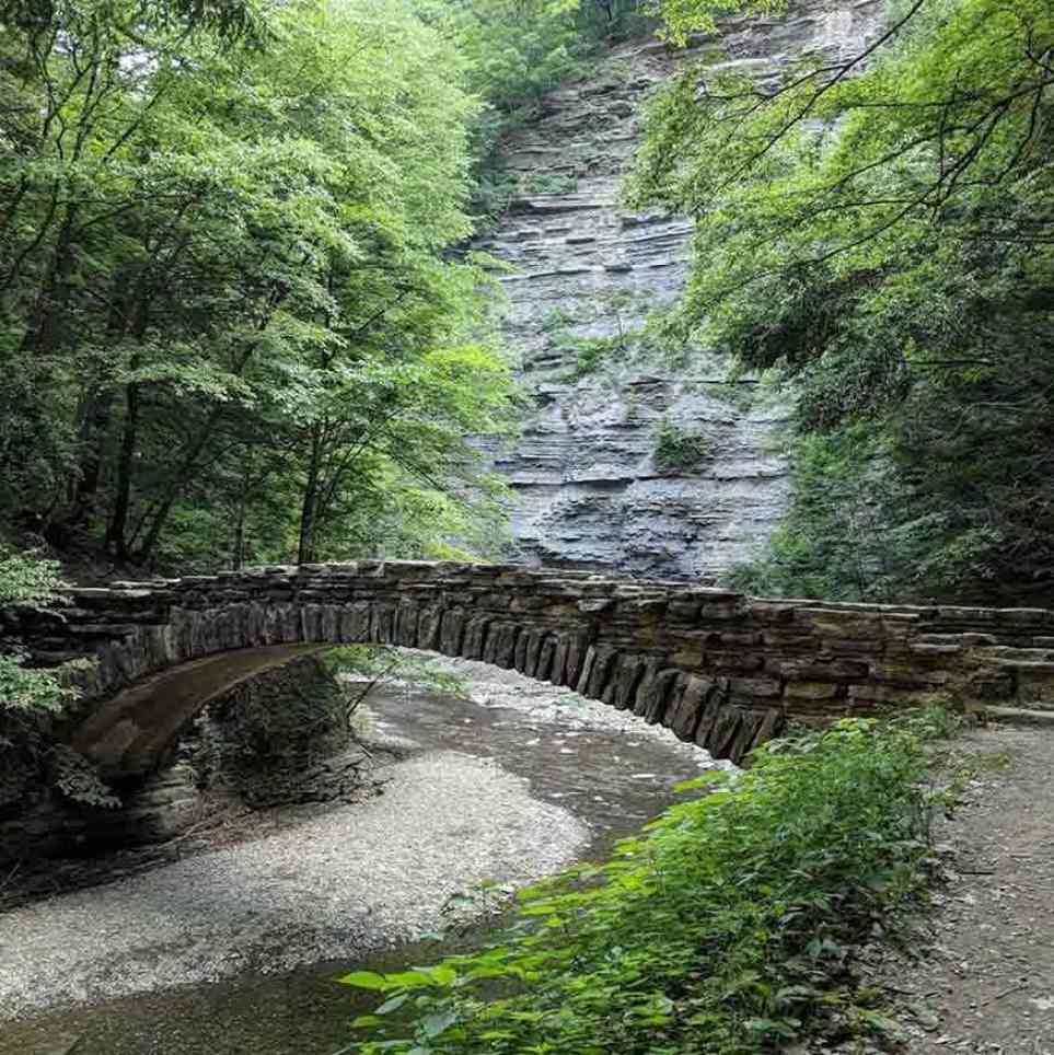 Stony Brook State Park bridge