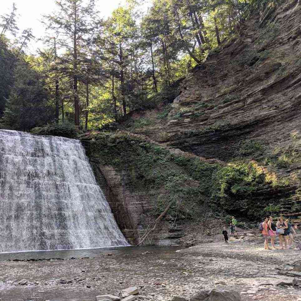 Stony Brook State Park people first waterfall