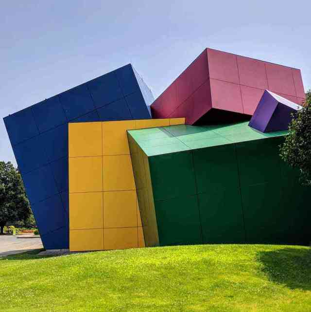 Strong National Museum of Play colorful cubes