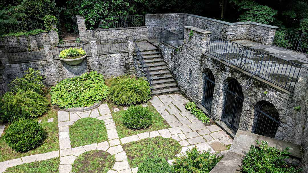 Sunken Garden at Warner Castle