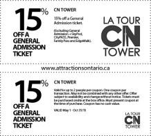 Coupon, Attraction Ontario Coupon, Day Trips Ontario,