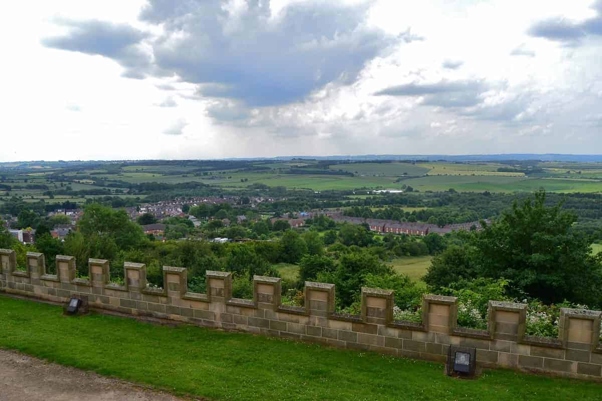 English Countryside view from Bolsover