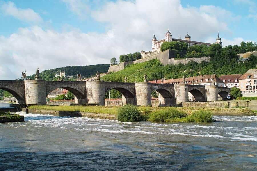 Alte Mainbrücke (bridge) and Fortress Marienberg