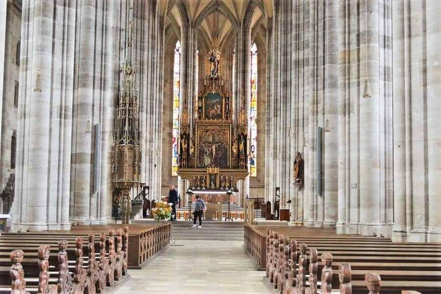 Inside St. George's Minster in Dinkelsbühl