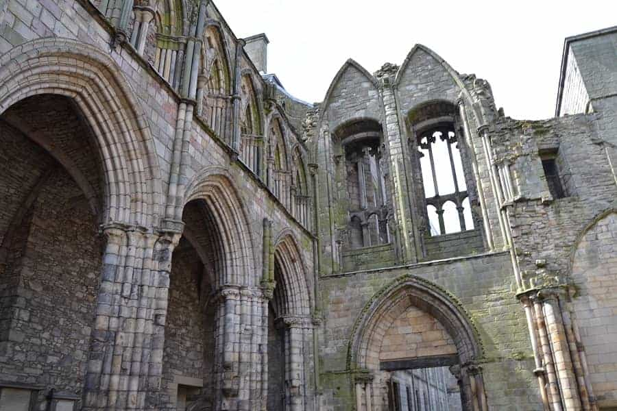 Holyrood Abbey, founded by David I in 1128