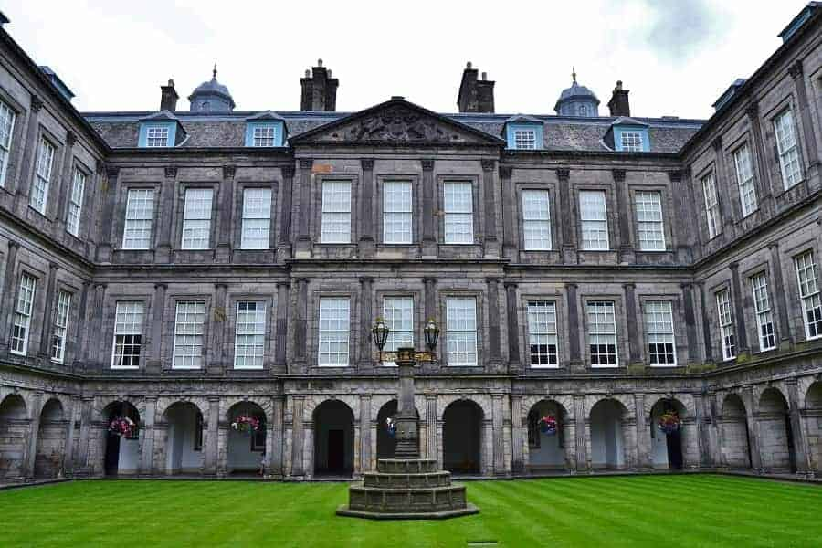 Palace of Holyroodhouse in Scotland