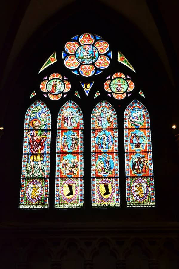 Stained Glass Windows in Freiburg Minster