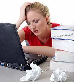 stress girl Pictures, Images and Photos