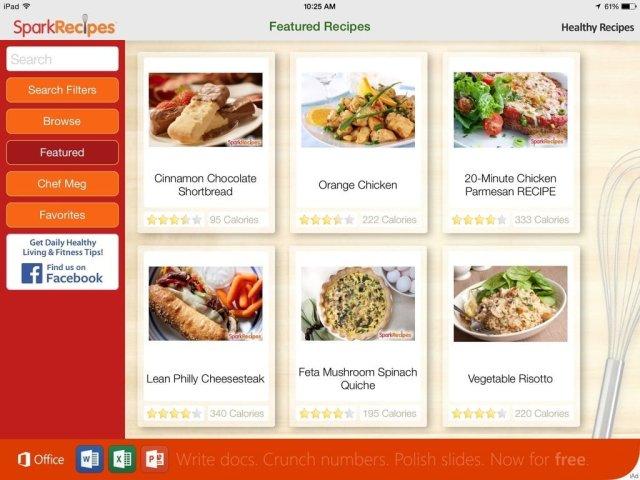 Healthy-Recipes-by-SparkRecipes-for-iPad