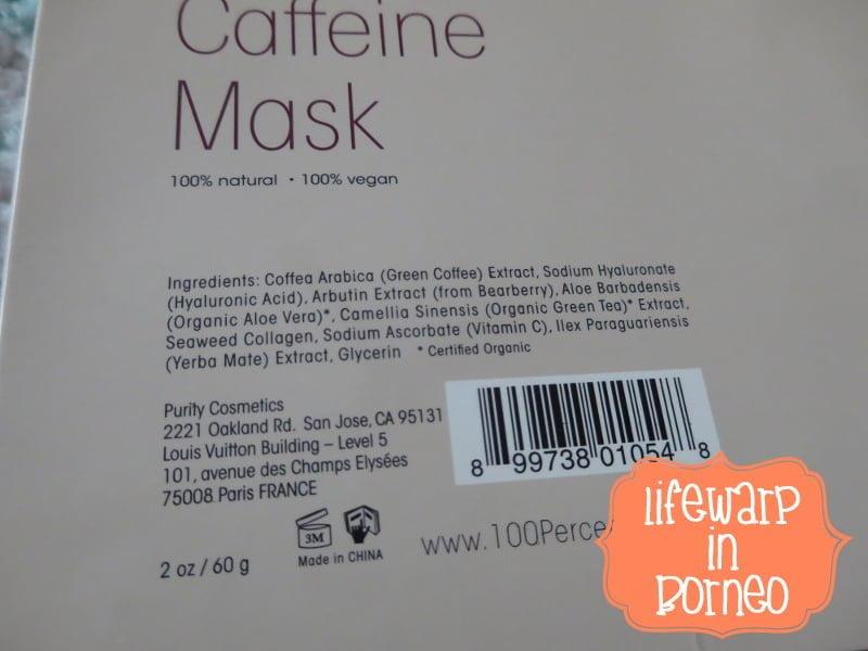 The Jesselton Girl Beauty: 100% Pure Caffeine Mask