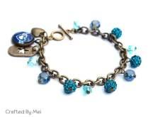 photo bracelet charm