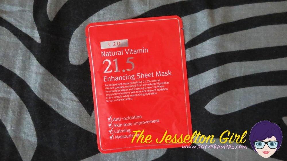 C20 Natural Vitamin 21.5 Enhancing Sheet Mask