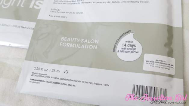 b.liv Dullness Cessation Bright is Right Face Mask
