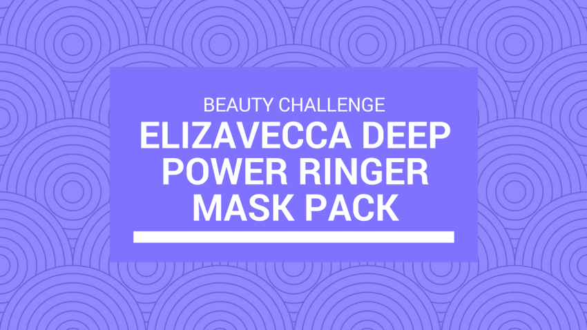 10-Day Mask Challenge with Elizavecca Deep Power Ringer Mask Pack