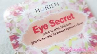 The Jesselton Girl Beauty: Horien Eye Secret 38% 6-Month Disposable Colour Contact Lens in Daisy Grey