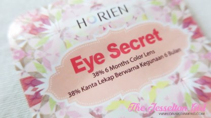 The Jesselton Girl Beauty: Horien Eye Secret 38% 6-Month Disposable Colour Contact Lens in Daisy Grey
