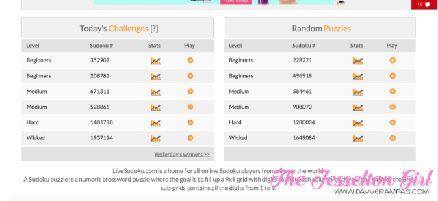 The Jesselton Girl Game: Train Your Brain with Other Sudoku Online Players @ Live Sudoku