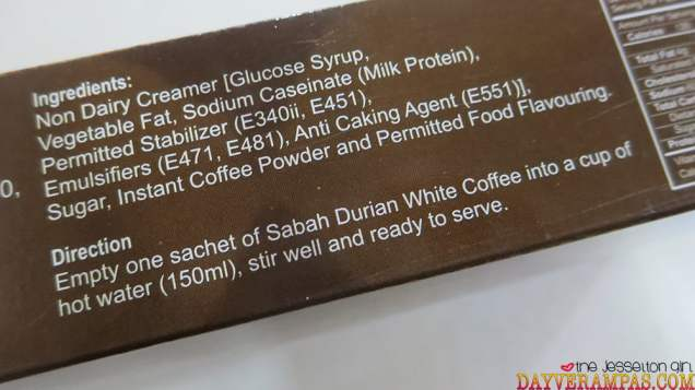 Review: Sabah Durian White Coffee, The Jesselton Girl