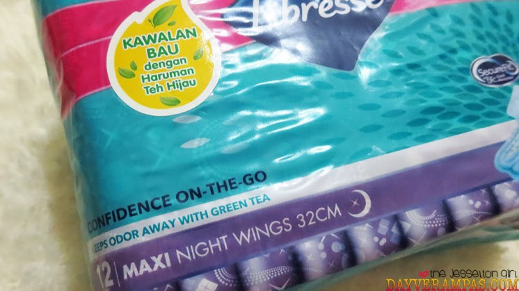 Libresse Confidence On-The-Go Maxi Night Wings 32cm (With Green Tea)