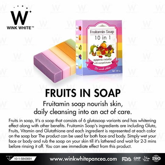 The Jesselton Girl Get a Fairer and Flawless Skin with Wink White Fruitamin 10-in-1 Soap