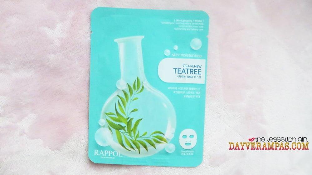Nature Medics Rappol Cica Renew Teatree Mask Moisturizes & Lightens My Skin Instantly!