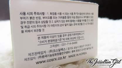 The Jesselton Girl Review: COSRX 코스알엑스 Centella Blemish Cream