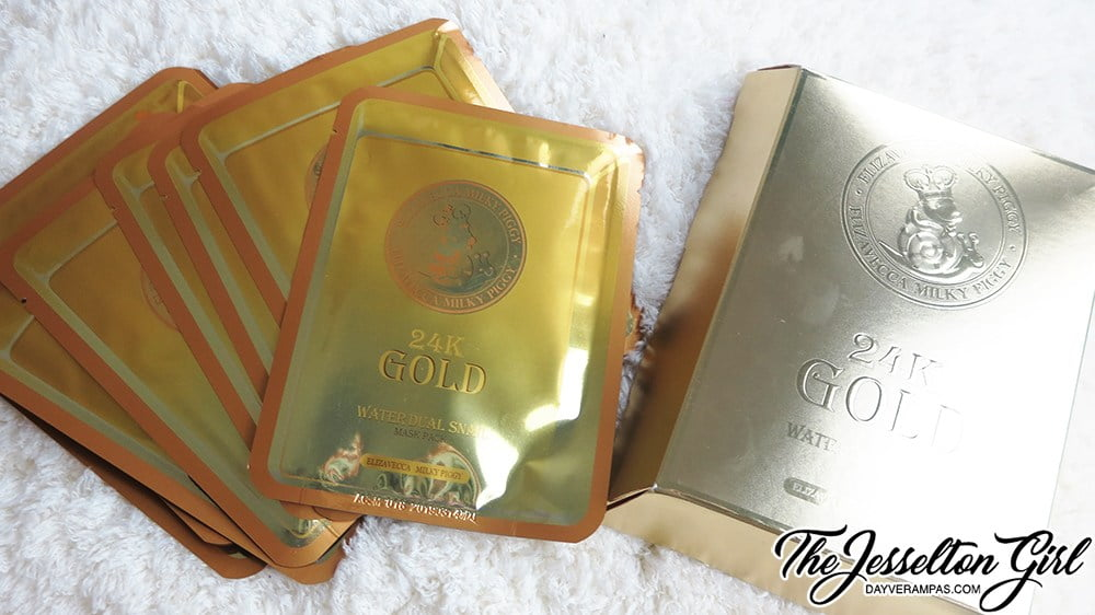 Review: [Elizavecca 엘리자베카] Milky Piggy 24K Gold Water Dual Snail Mask