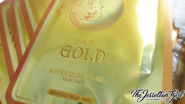 [엘리자베카] 24K 황금 스네일 마스크팩 [Elizavecca] Milky Piggy 24K Gold Water Dual Snail Mask