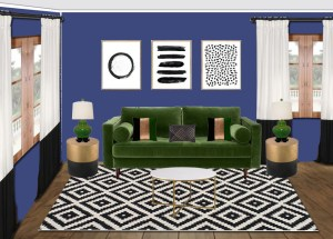St. Patrick's Day Inspired Living Room Interior Design