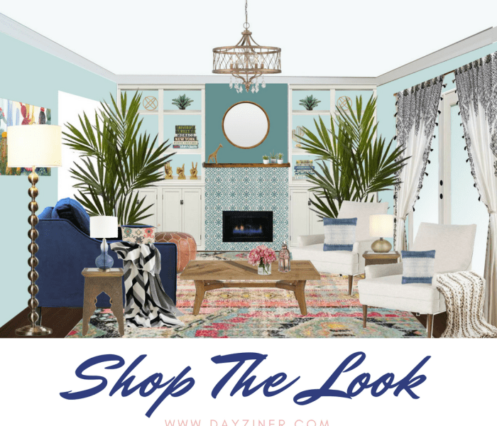 Shop The Look: Eclectic Bohemian Living Room