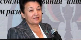 Ольга Андреевна Киколенко на VII Конгрессе немцев Казахстана. Астана, 2010 г.