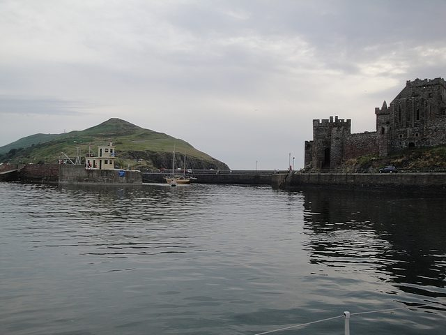 Approaching Peel Harbour entrance, Isle of Man