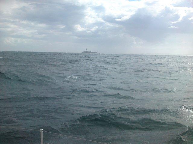 Approaching Rockabill lighthouse.