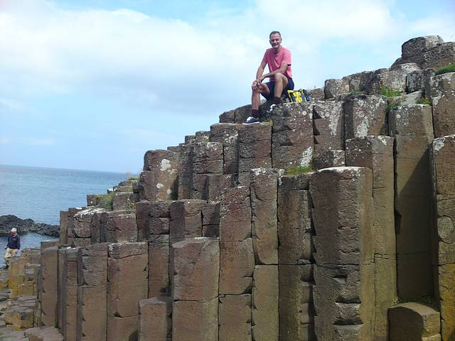 Henry on top of the world, Giant's Causeway.
