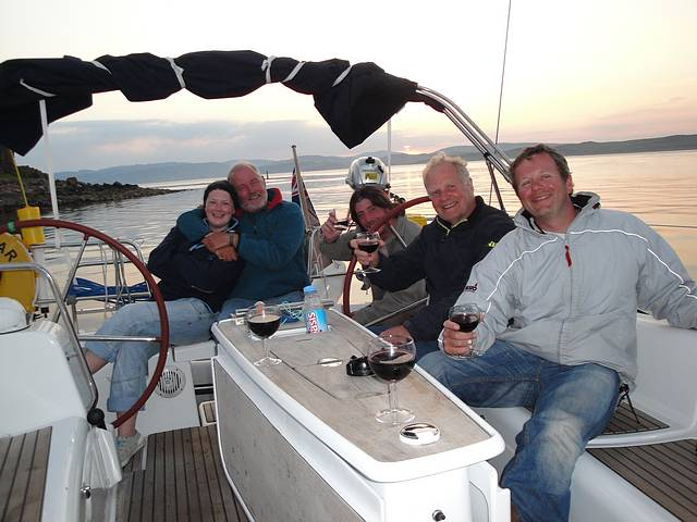 Ray with the crew on board 'Morning Star'