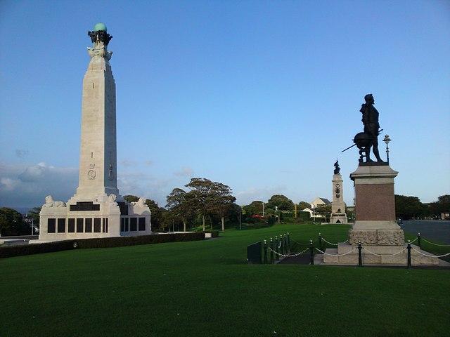 Memorials at Plymouth.