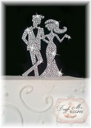 Crystal Monogram Cake Toppers Affordable Wedding Cake