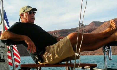 Captain Dan just chilling after a day of working on projects.