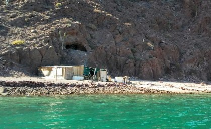 One of the fish camps located on the island.