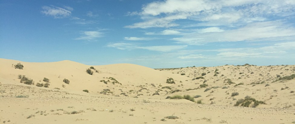 Beautiful sand dunes on the way out of Puerto Peñasco.