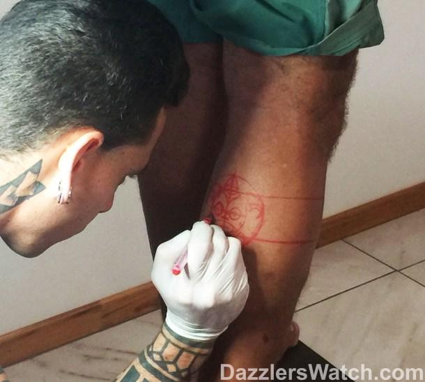 Dan's tattoo took 5 hours!