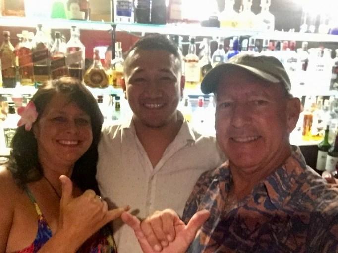 Sonny, our bartender at Sadie Thompson's.