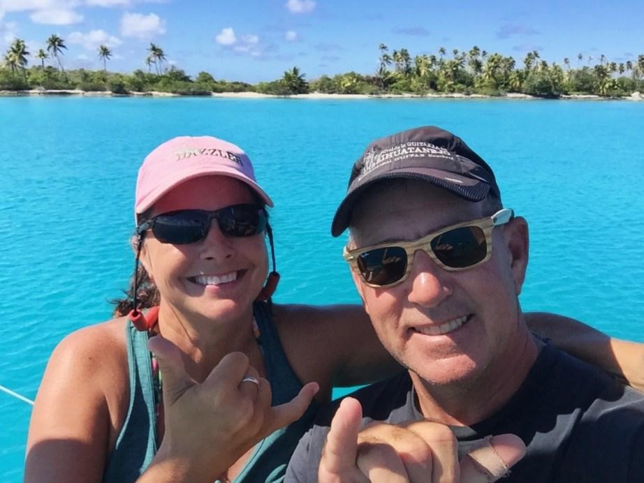 Jilly & Dan enjoying Kauehi
