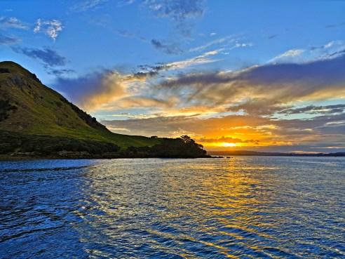 Sunset at Urquharts Bay, New Zealand
