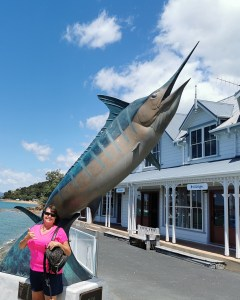 Jilly on the wharf at Paihia