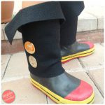 How to Make Super Easy Kid Pirate Boot Covers